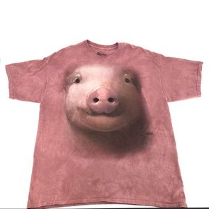 The Mountain Pig Shirt Tie Dye Top Pink 2XL Plus